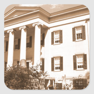 La mansión del gobernador viejo, Milledgeville, Pegatina Cuadrada