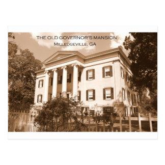 La mansión del gobernador viejo, Milledgeville, Tarjeta Postal