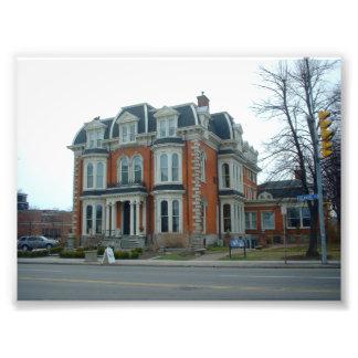 La mansión en la avenida de Delaware en el búfalo  Fotografías