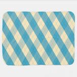 La manta azul del bebé de MeanClique Argyle Mantitas Para Bebé