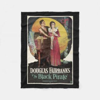 La manta negra del cartel de película del vintage manta de forro polar