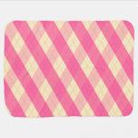 La manta rosada del bebé de MeanClique Argyle Mantitas Para Bebé