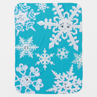 La manta sola del copo de nieve mantas de bebé