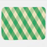 La manta verde del bebé de MeanClique Argyle Mantitas Para Bebé
