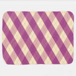 La manta violeta del bebé de MeanClique Argyle Mantita Para Bebé
