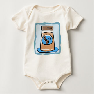La mantequilla de cacahuete hermana la camiseta body de bebé