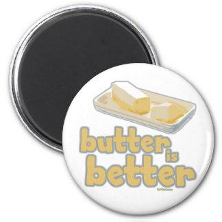 La mantequilla es mejor imán de frigorífico