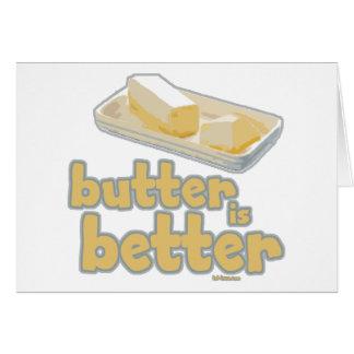 La mantequilla es mejor tarjeta de felicitación