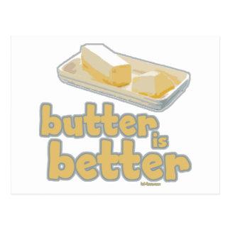La mantequilla es mejor tarjeta postal