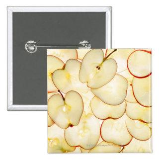 la manzana corta retroiluminado y dispuesta en pin cuadrado