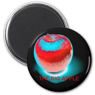 la manzana grande imán redondo 5 cm