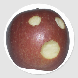 La manzana grito pegatina