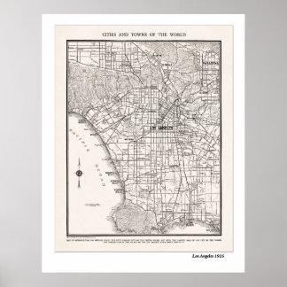 LA Map 1925 Print