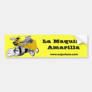 La Maquina Amarilla Pegatina Para Auto