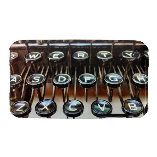 La máquina de escribir antigua del vintage cierra  Case-Mate iPhone 3 funda