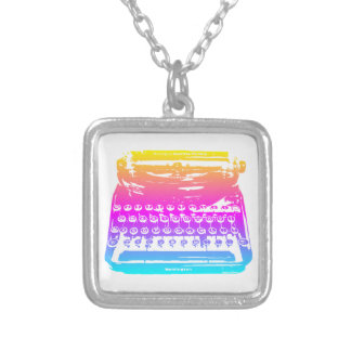 la máquina de escribir - arco iris colgante cuadrado