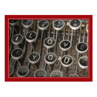 La máquina de escribir cierra te amo