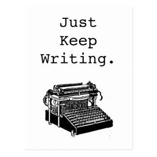 La máquina de escribir del vintage apenas guarda postal