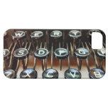 La máquina de escribir del vintage cierra el caso  iPhone 5 carcasas