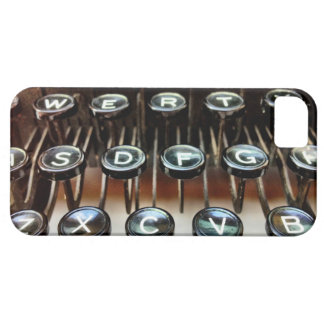 La máquina de escribir del vintage cierra el caso iPhone 5 cárcasa