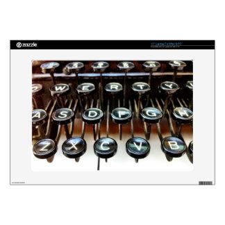 La máquina de escribir del vintage cierra la piel portátil 38,1cm skin