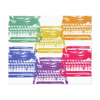 la máquina de escribir - multicolora impresiones en lienzo estiradas