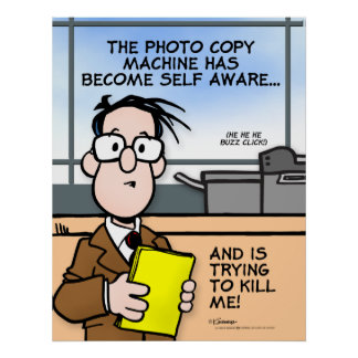 La máquina de la copia póster
