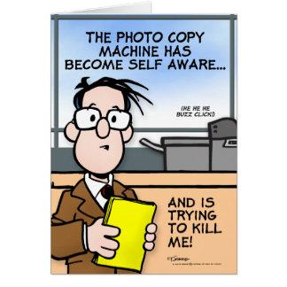 La máquina de la copia tarjeta de felicitación