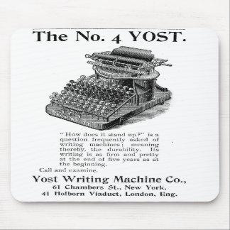 La máquina de la escritura de no. 4 Yost Tapetes De Ratón