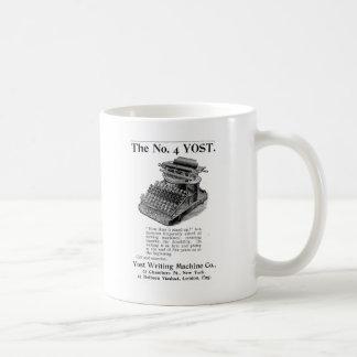 La máquina de la escritura de no. 4 Yost Taza De Café