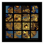La máquina de oro impresiones