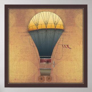 La máquina de vuelo de Abeelle Steampunk del dirig Posters