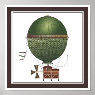 La máquina de vuelo de Citronnier Steampunk del di Poster