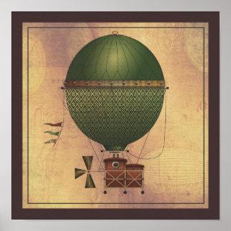 La máquina de vuelo de Citronnier Steampunk del di Impresiones