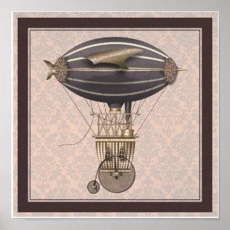 La máquina de vuelo de la fantasía del comino del  impresiones