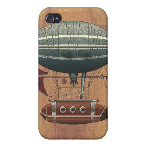 La máquina de vuelo de Steampunk del Aleutian del  iPhone 4 Cárcasa