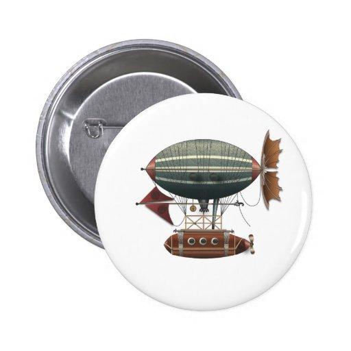La máquina de vuelo de Steampunk del Aleutian del  Pins