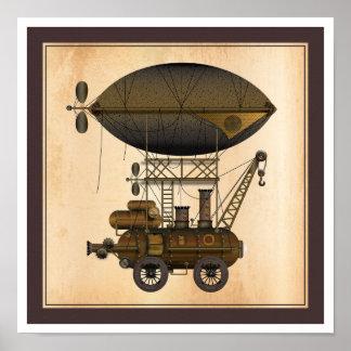 La máquina de vuelo industrial de Douglas del diri Póster