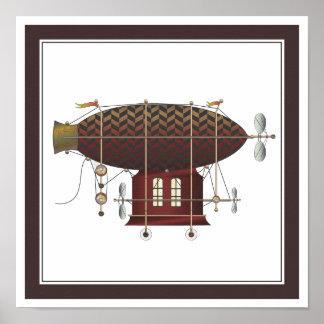 La máquina de vuelo menuda de Steampunk del colore Impresiones