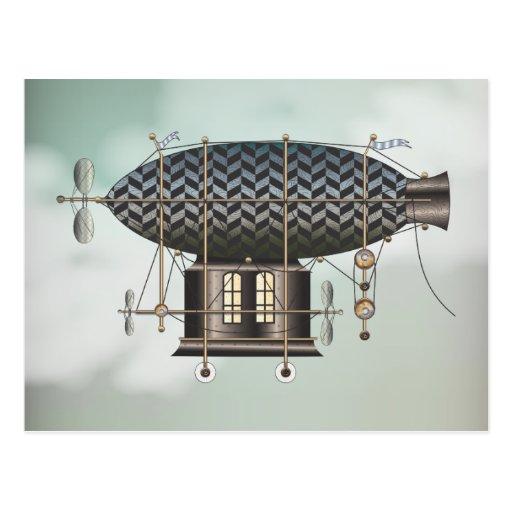 La máquina de vuelo Noir menuda de Steampunk del Postales