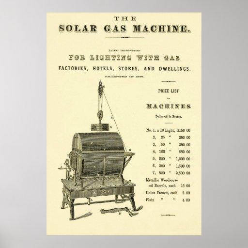 La máquina solar del gas póster