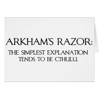 La maquinilla de afeitar de Arkham Tarjeta De Felicitación