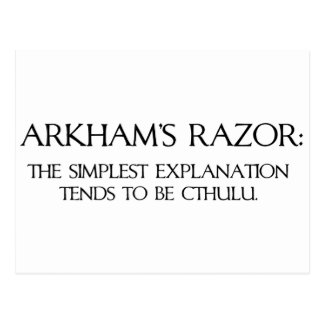 La maquinilla de afeitar de Arkham Postal