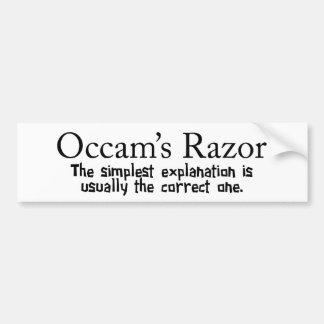 La maquinilla de afeitar de Occam Pegatina Para Auto