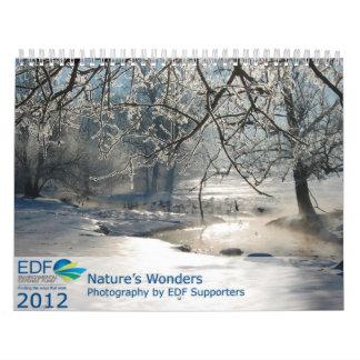 La maravilla 2012 de la naturaleza calendario de pared