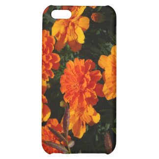 La maravilla anaranjada florece la caja del iPhone