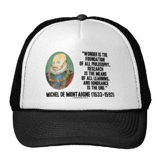 La maravilla es la fundación de la filosofía Monta Gorra