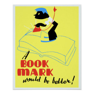 La marca de libro del vintage A sería mejor WPA Póster