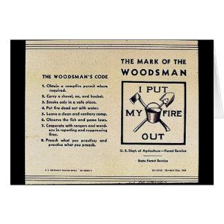 La marca del Woodsman Felicitación