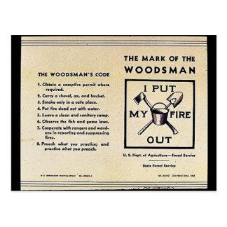 La marca del Woodsman Postal